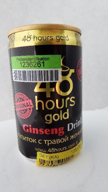 Billede af det ulovlige produkt: 48 hours gold Ginseng Drink