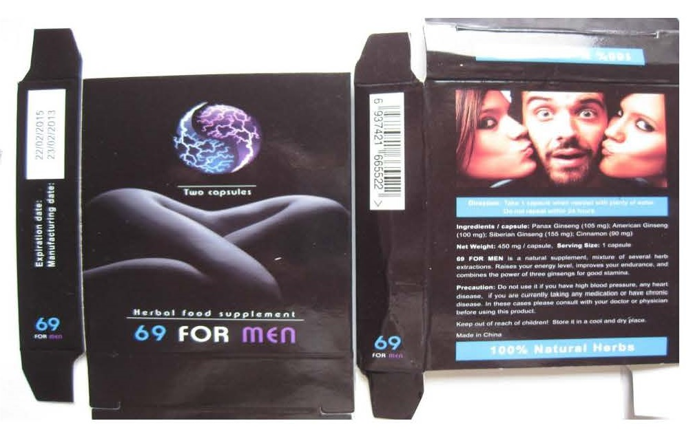 Image of the illigal product: 69 For Men