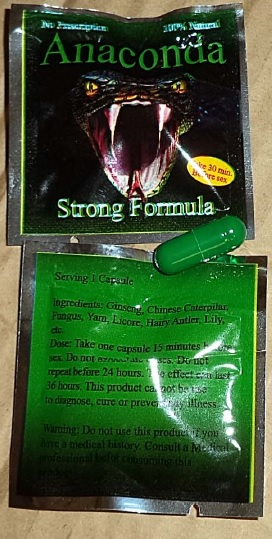Image of the illigal product: Anaconda Strong Formula