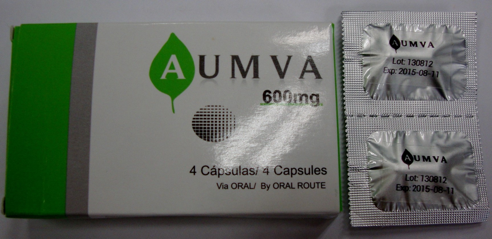 Image of the illigal product: AUMVA capsules