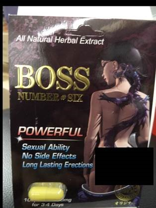 Image of the illigal product: Boss Number #Six