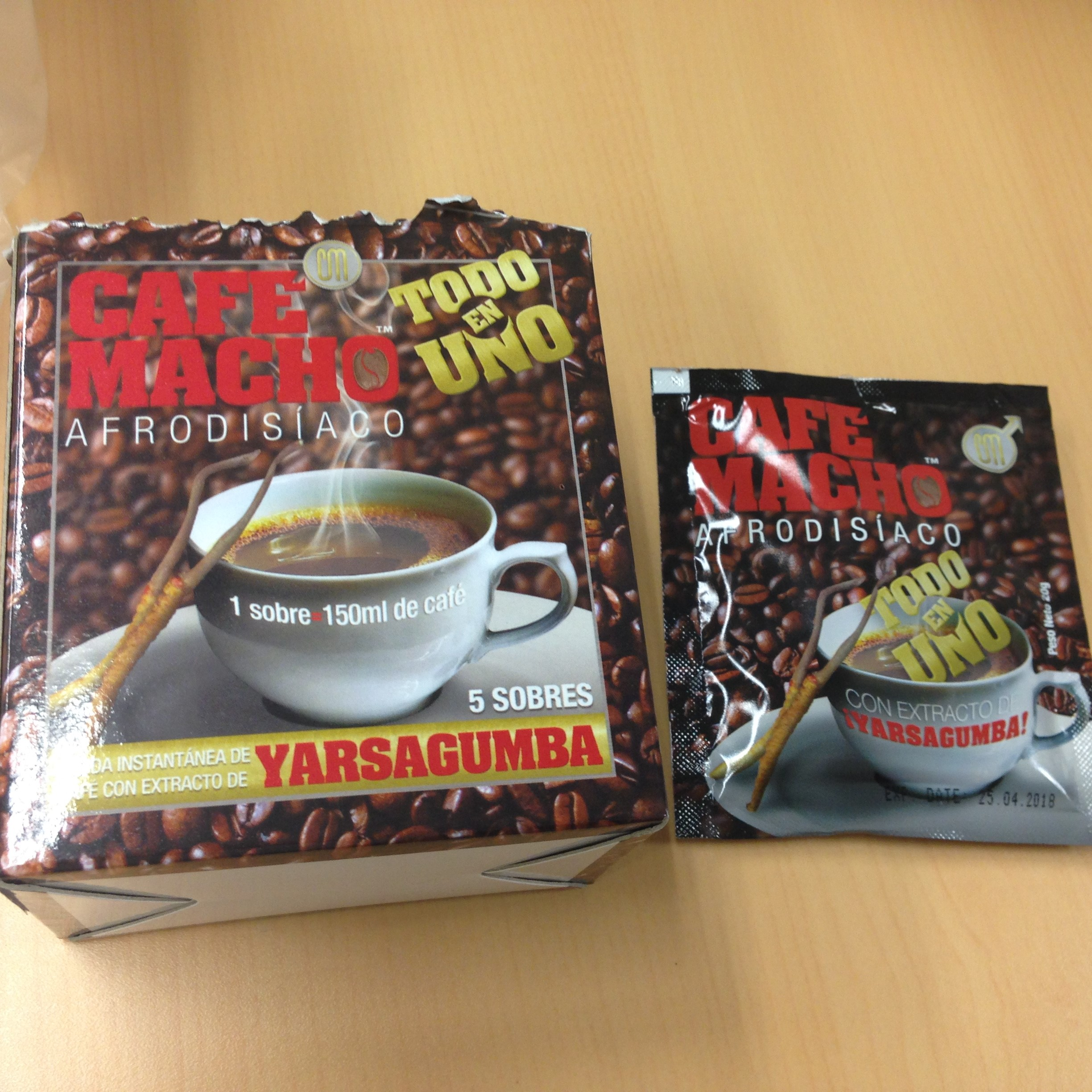 Image of the illigal product: Café Macho Afrodisiaco
