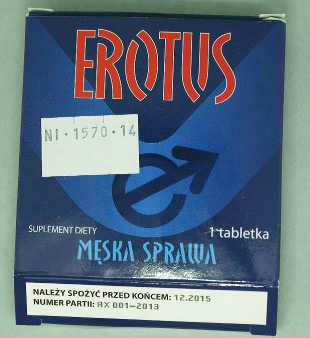 Image of the illigal product: Erotus meska sprawa