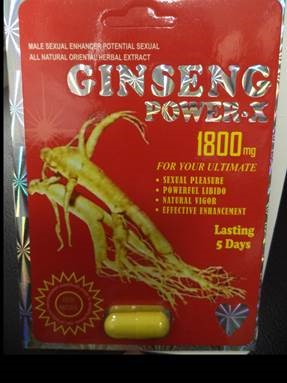 Image of the illigal product: Ginseng Power-X