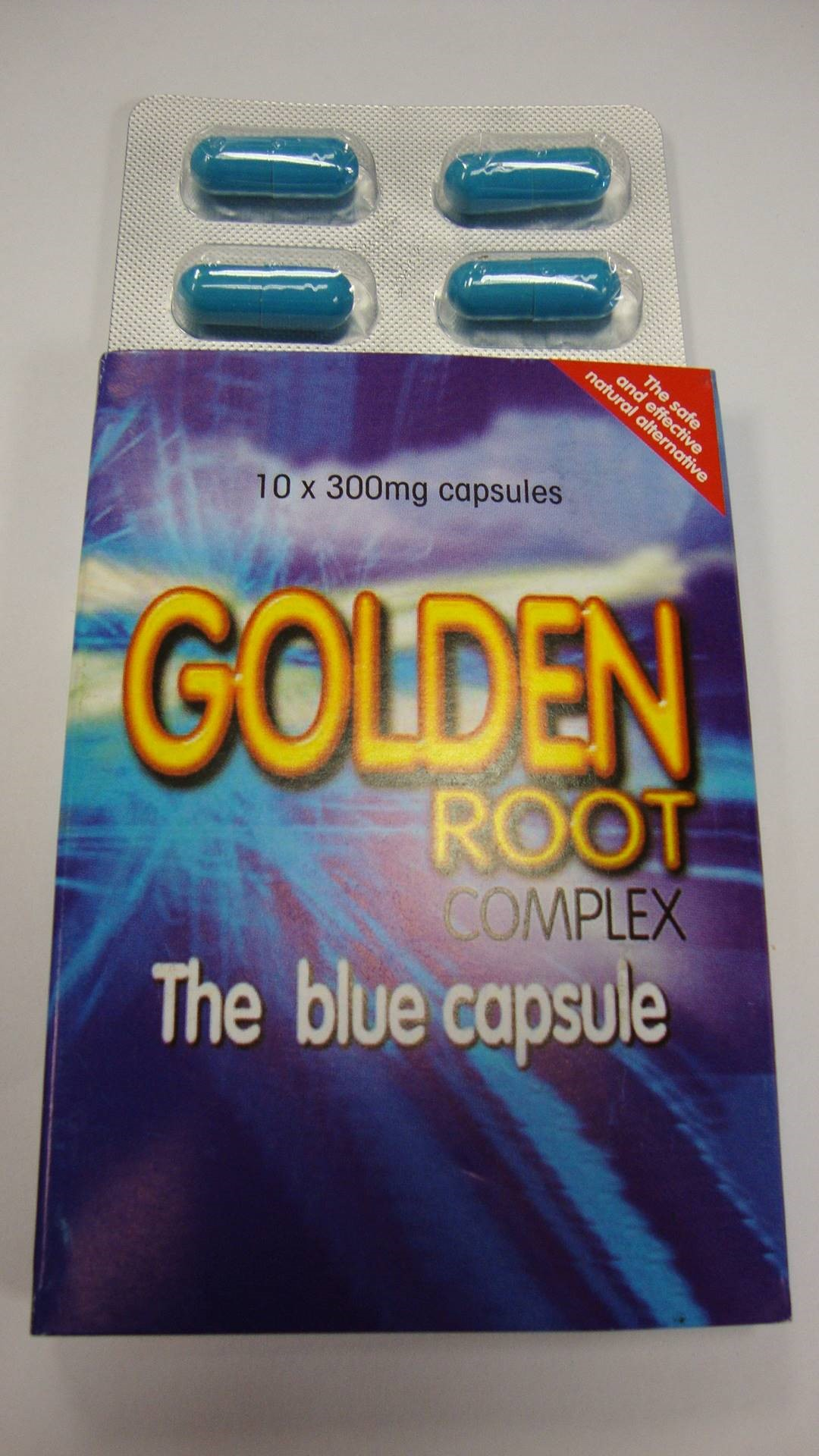 Image of the illigal product: Golden Root Complex kapsler
