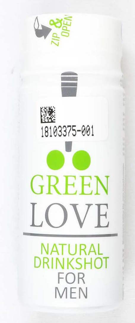 Image of the illigal product: Green Love Natural drinkshot for men