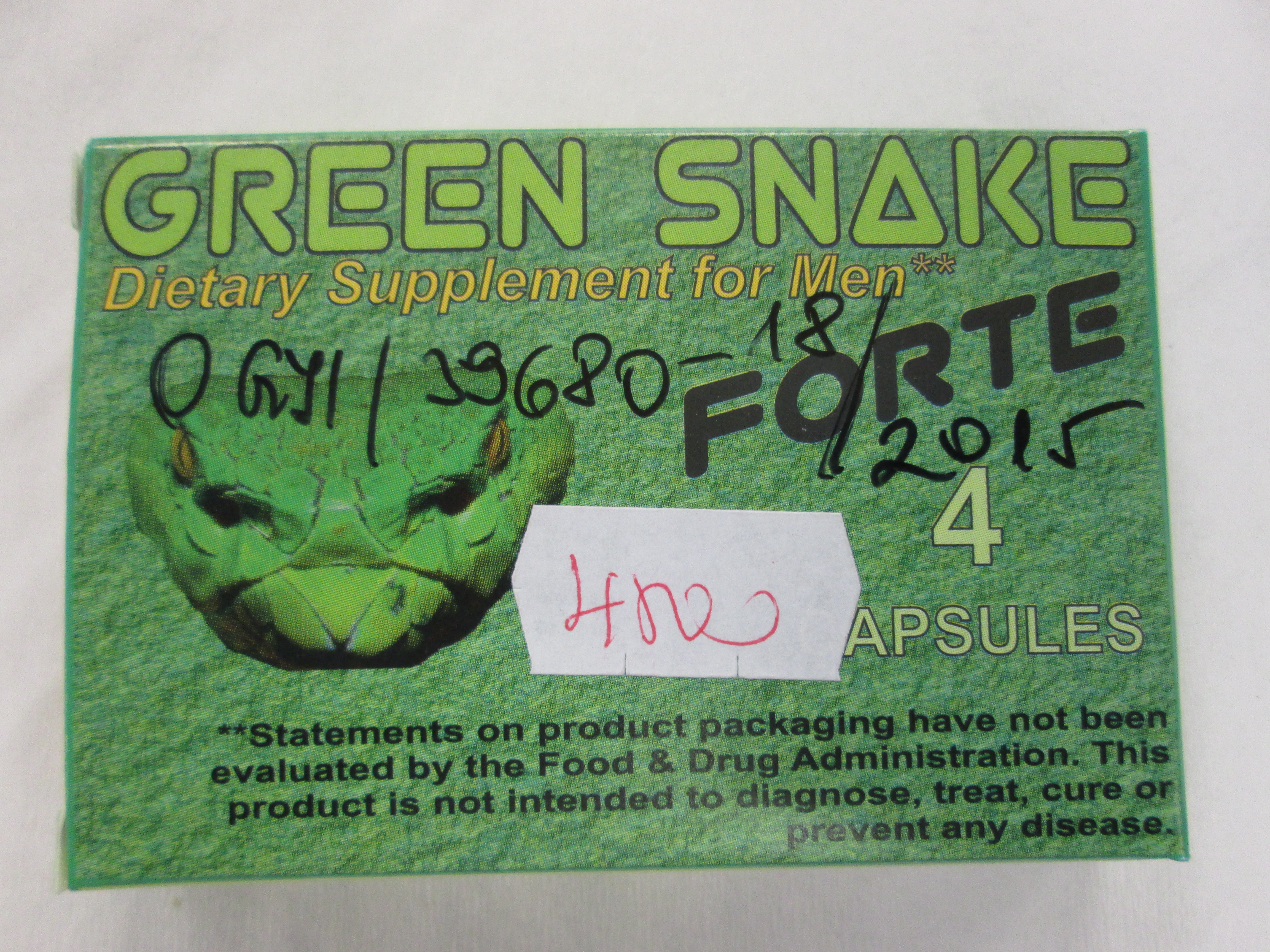 Image of the illigal product: Green Snake Forte