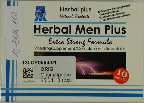 Image of the illigal product: Herbal Men Plus