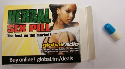Image of the illigal product: Herbal Sex Pill