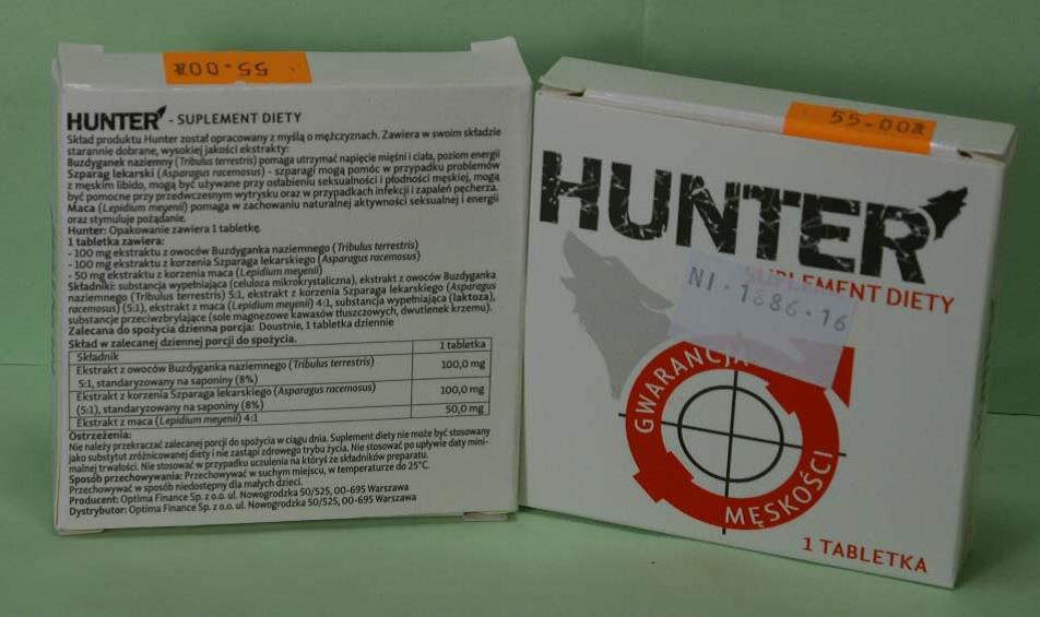 Image of the illigal product: Hunter Suplement Diety