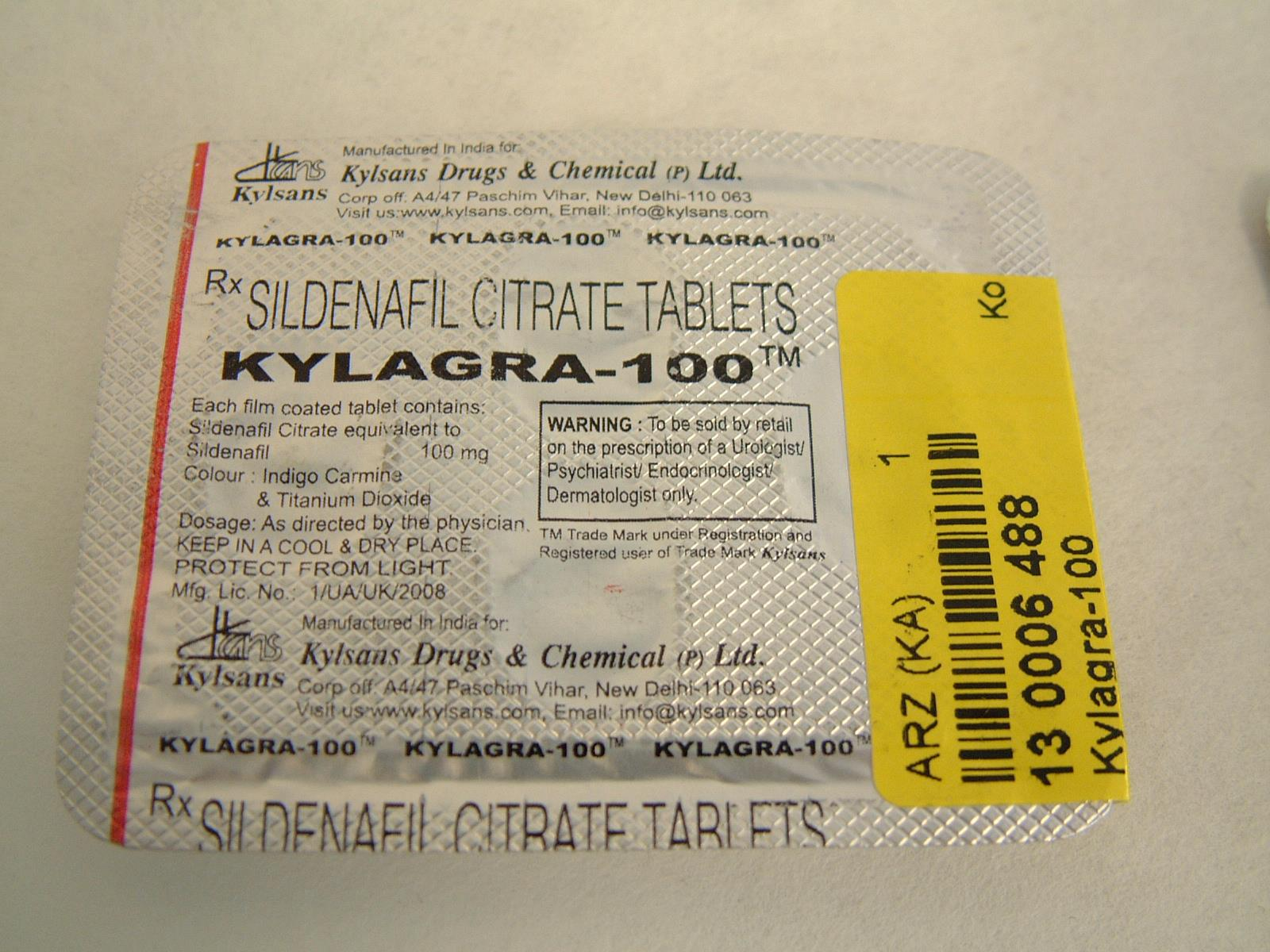 Image of the illigal product: Kylagra
