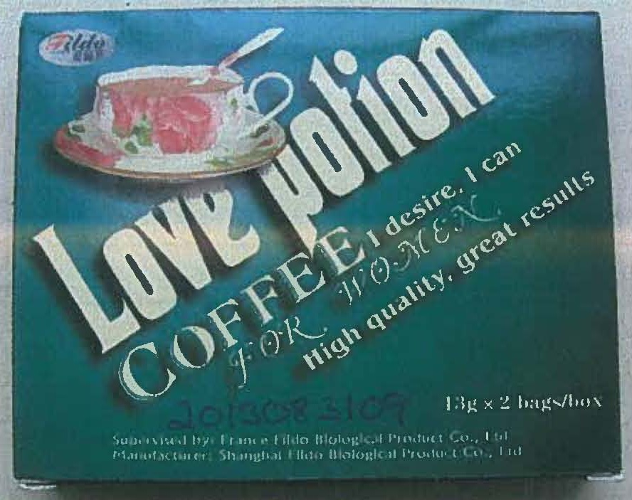 Image of the illigal product: Love Potion Coffee