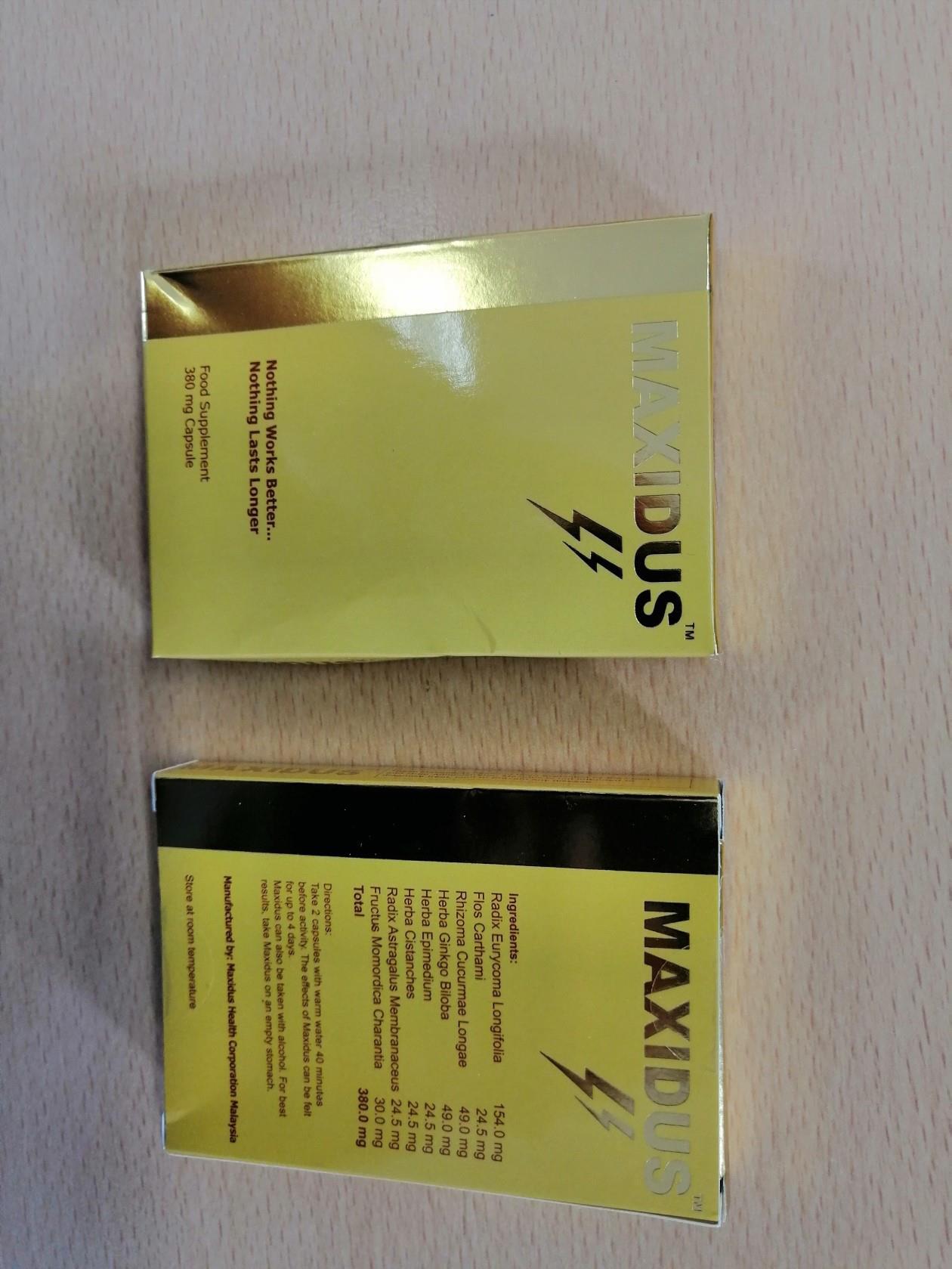 Image of the illigal product: Maxidus Capsules