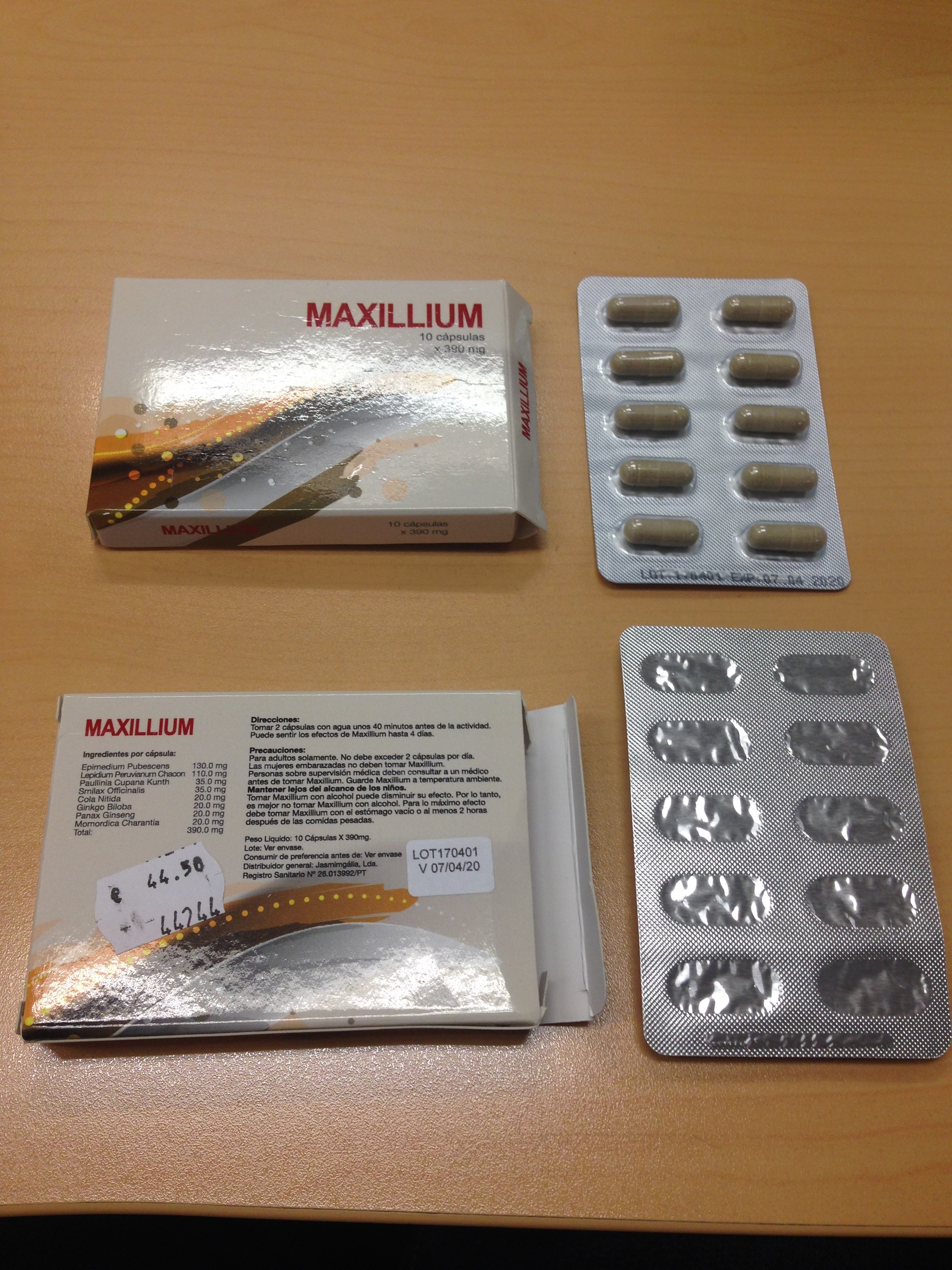 Image of the illigal product: Maxillium