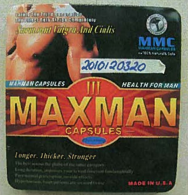 Image of the illigal product: Maxman III