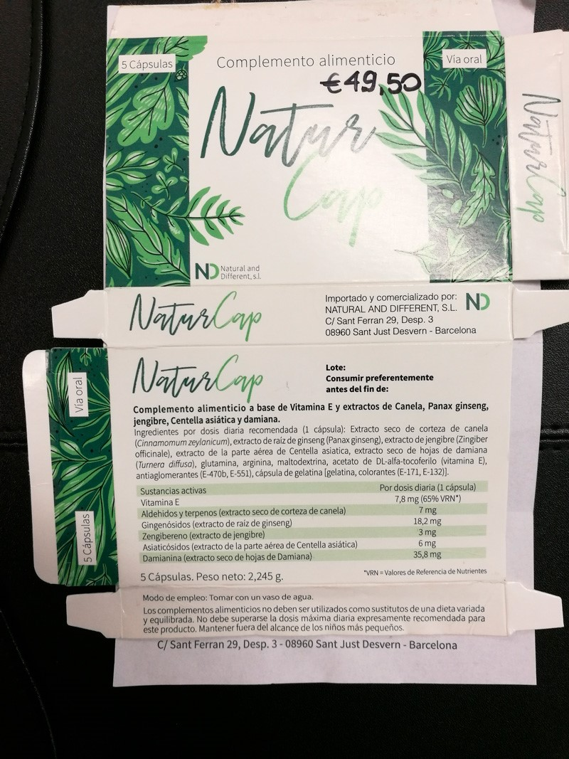 Image of the illigal product: NaturCap