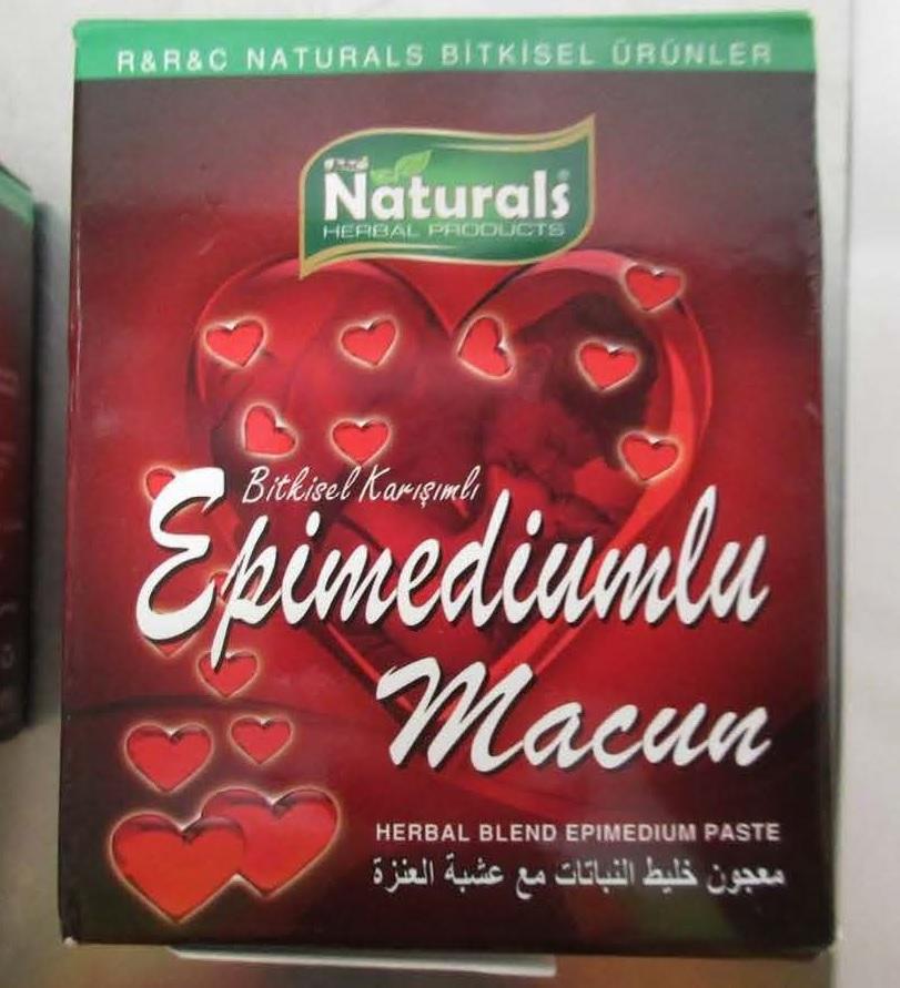 Image of the illigal product: Naturals Epimedyumlu Macun