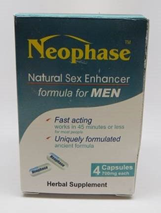 Image of the illigal product: Neophase Natural Sex Enhancer capsules