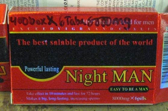Image of the illigal product: Night Man