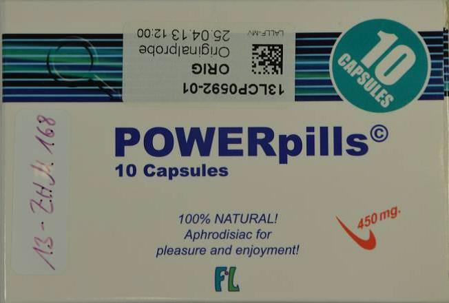 Image of the illigal product: POWERpills