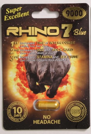 Image of the illigal product: Rhino 7 Blue 9000