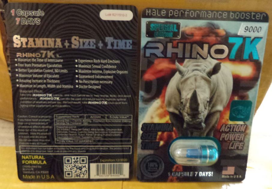 Image of the illigal product: Rhino 7 K 9000 Male Performance Booster