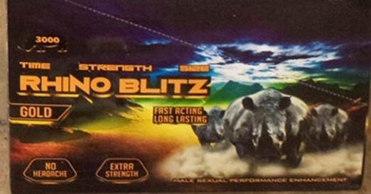 Image of the illigal product: Rhino Blitz Gold 3000