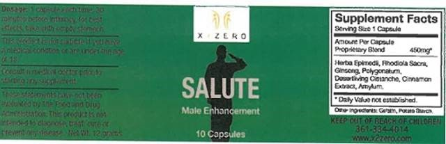 Image of the illigal product: Salute Capsules