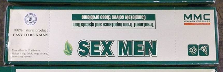 Image of the illigal product: Sex Men