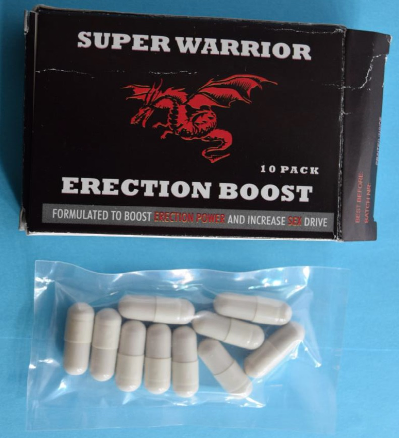 Image of the illigal product: Super Warrior Erection Boost
