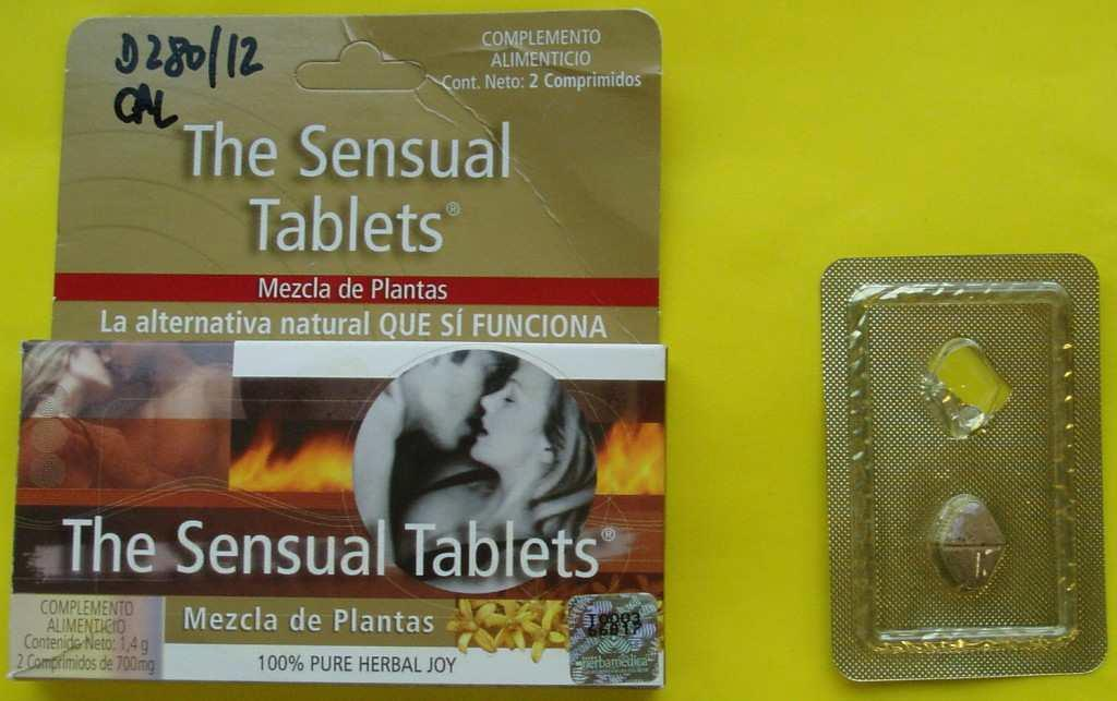 Image of the illigal product: The Sensual Tablets