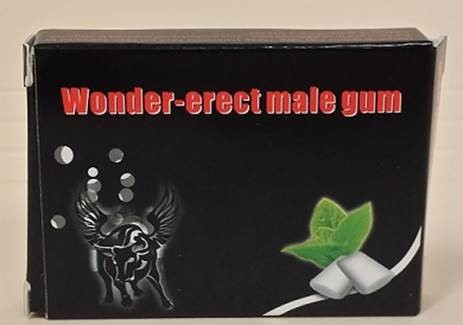 Image of the illigal product: Wonder-Erect Male Gum