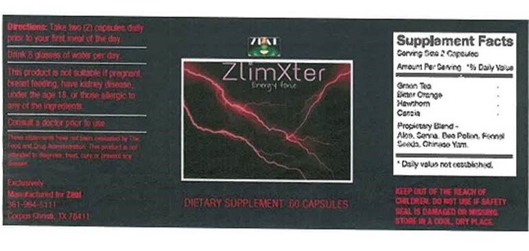 Image of the illigal product: ZlimXter