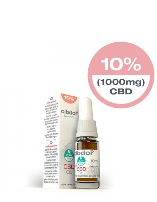 Billede af det ulovlige produkt: Cibdol CBD Oil Stærk 10%