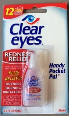 Billede af det ulovlige produkt: Cleareyes Redness Relief
