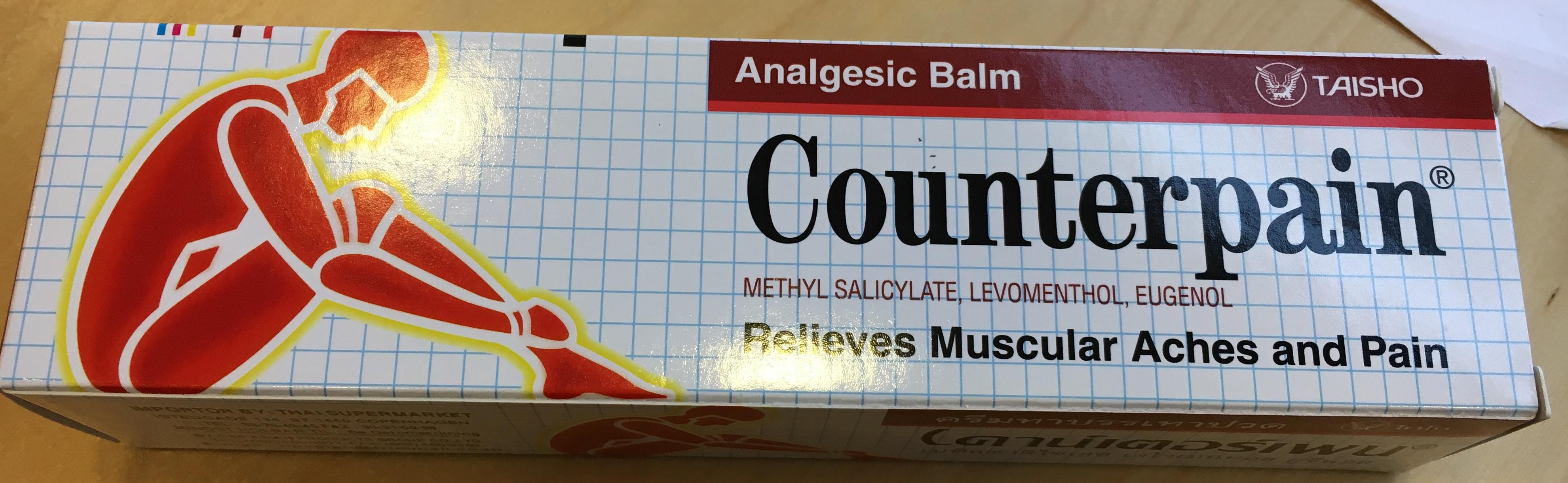 Billede af det ulovlige produkt: Counterpain Analgesic Balm