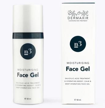 Billede af det ulovlige produkt: Dermaxir n3 n3 Moisturising Face Gel