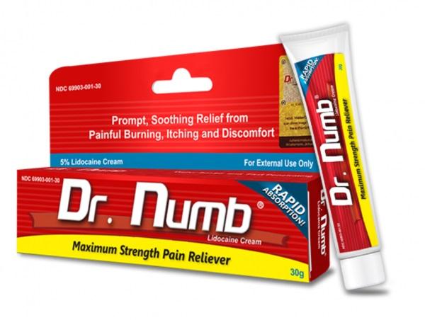 Billede af det ulovlige produkt: Dr. Numb® Topical Anesthetic Cream