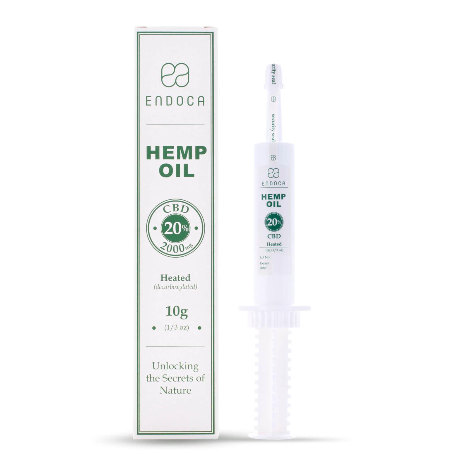 Billede af det ulovlige produkt: ENDOCA Hemp Oil Pasta 20% CBD Olie 2000mg