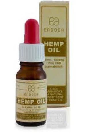 Billede af det ulovlige produkt: ENDOCA Hemp Oil Drops 15%
