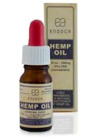 Billede af det ulovlige produkt: ENDOCA Hemp Oil Drops 3%