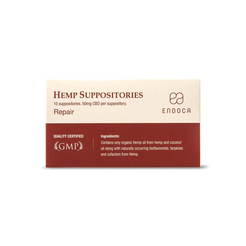 Image of the illigal product: ENDOCA Hemp Suppositories 50mg CBD