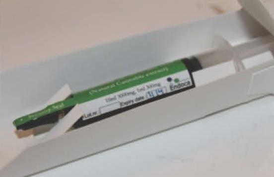 Billede af det ulovlige produkt: ENDOCA CBD oil (30% CBD) 2,5 ml