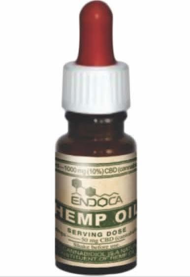 Billede af det ulovlige produkt: ENDOCA Hemp Oil Drops 10% (10 ml)