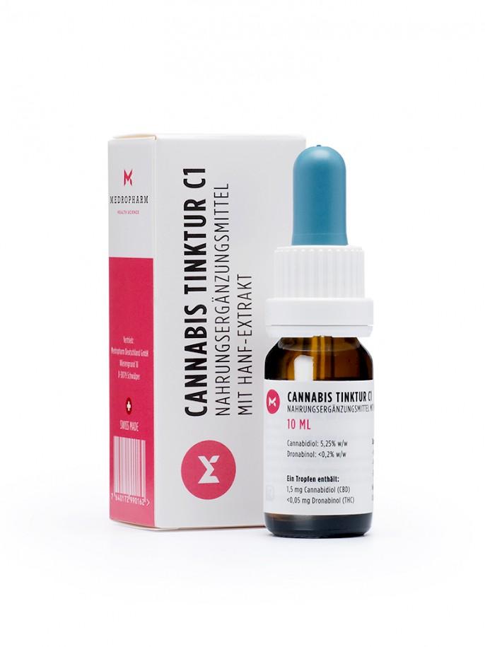 Billede af det ulovlige produkt: Medropharm Cannabis Tinktur C1