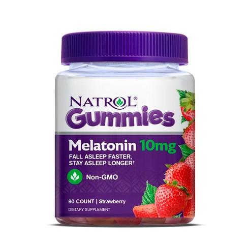 Billede af det ulovlige produkt: NATROL Gummies Melatonin 10 mg