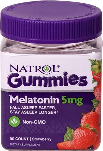 Billede af det ulovlige produkt: NATROL Gummies Melatonin 5 mg