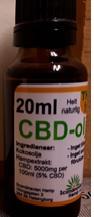 Billede af det ulovlige produkt: Scandinavian Hemp CBD-Ojla 5%