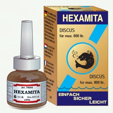 Billede af det ulovlige produkt: eSHa Hexamita (eSHa labs)