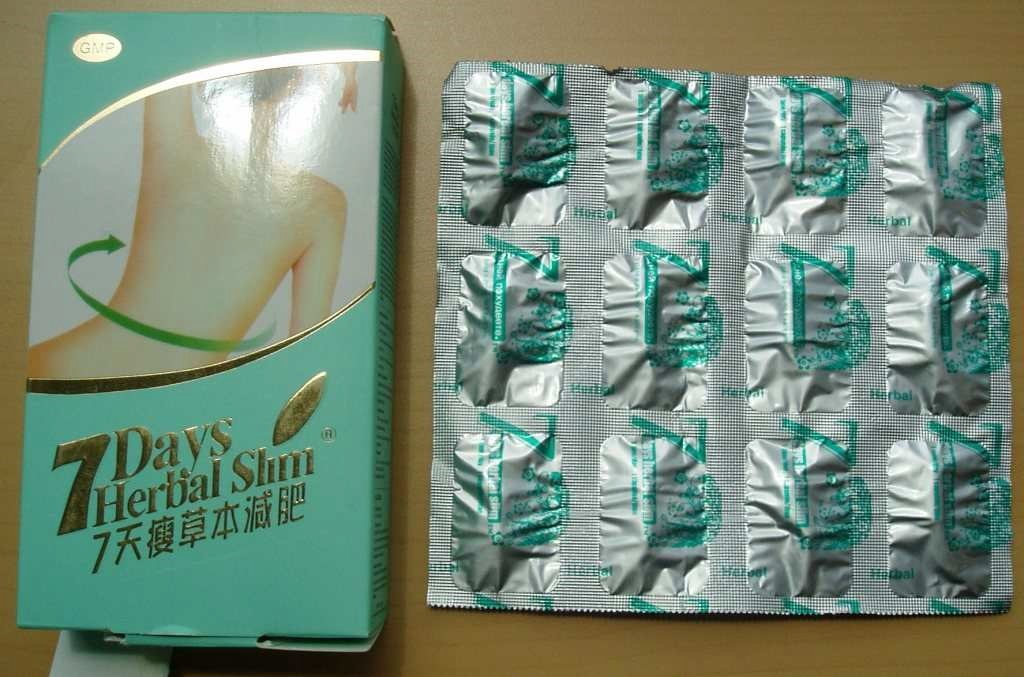 Image of the illigal product: 7 Days Herbal Slim